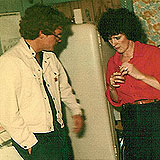 CATHOLINE in 1981 in her mother's kitchen speaking with Conor O'Neill of Skyline Cable prior to leaving for Western Canada.