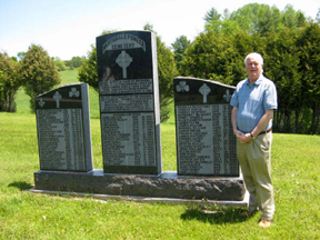 DECLAN KELLY the Ambassador of Ireland to Canada is shown above at the memorial to the survivors of the Great Irish Famine at the Martindale Pioneer Cemetery in western Quebec.