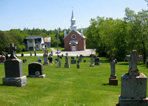 THE CHURCH at St. Martin's parish in Martindale which was built by the Irish famine survivors when they settled this area of the Gatineau Valley in Quebec.