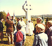 AT THE CEREMONY to bless the Celtic cross overlooking the cemetery.